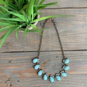 Teal J. Crew statement necklace